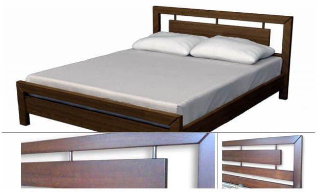 Фото - Двуспальная кровать из дерева
